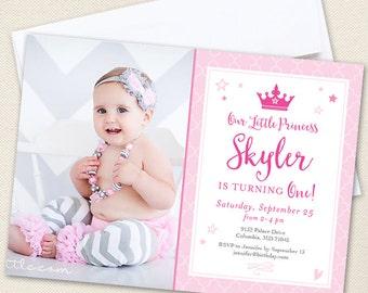 Princess Party Photo Invitations - Professionally printed *or* DIY printable