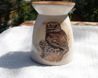 Owl Family Ceramic Tea Light Tart Burner