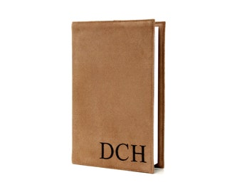"Personalized mens gift, Monogrammed 5"" x 8"" Lined Journal with Reusable Microsuede Cover, Comes in 7 Different Colors, Journal Notebook"