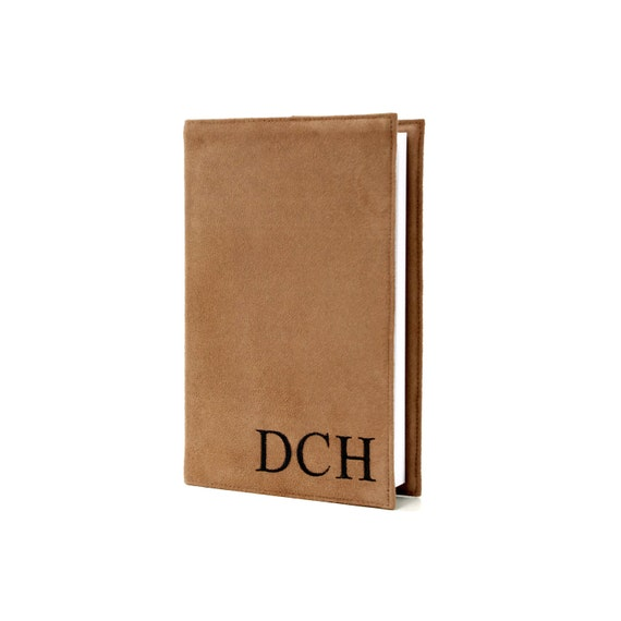 """Personalized mens gift, Monogrammed 5"""" x 8"""" Lined Journal with Reusable Microsuede Cover, Comes in 7 Different Colors, Journal Notebook"""