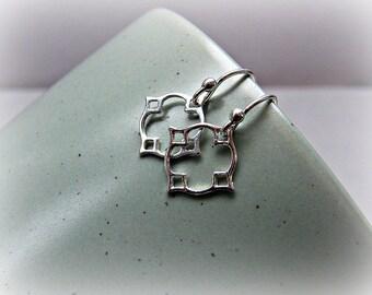 Moroccan earrings, Moroccan dangle earrings, sterling silver earrings, dainty earrings, petite silver earrings, small earrings in silver