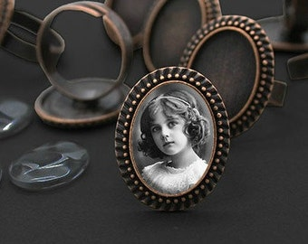Photo Ring - Your Custom Photo on a Ring - Available in 3 Finishes
