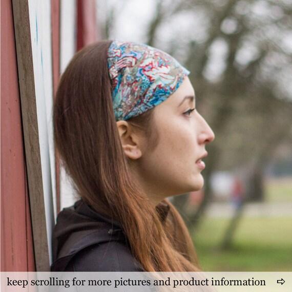 Bohemian Head Wrap Boho Headband Linen Headscarves Womens Headband Hippie Headband Head Wrap Women Bohemian Headband (#4713) S M