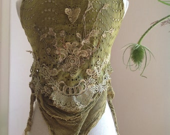 Fae of the Forests vest whimiscal organic and wild