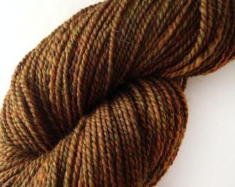 Handspun Yarn for Knitting - Falklands Merino and Zwartbles in Russet - Handspun Yarn UK