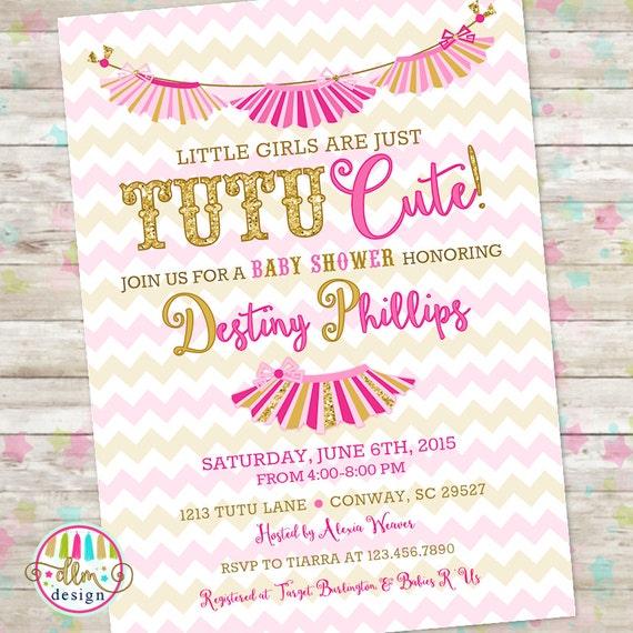 tutu cute printable invitation tutu cute baby shower twins invite