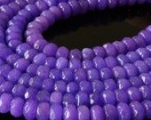 6x4mm  Jade Rondelle Beads - Jewelry Making Supply  4x6mm  semi precious faceted beads (7.5 Inch Strand ~ 45 beads) Purple