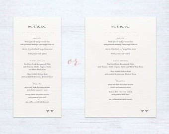 Menus – Love Birds