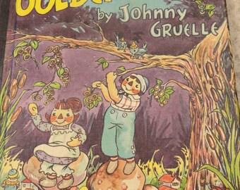 Vintage RAGGEDY ANN Johnny Gruelle 1st ed. 1961  Golden Ring