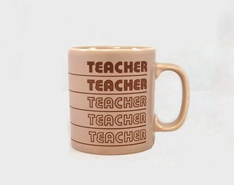 Vintage Mug 'Teacher' Title or Name Kiln Craft England