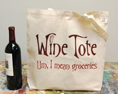 Wine Market Tote - screenprint Tote Bag