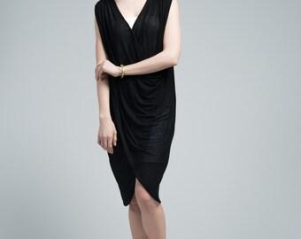 Black Dress / Cocktail Dress / Sleeveless Dress / Summer Dress / marcellamoda - MD665