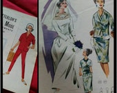 1960s Vintage Lutterloh Supplement No 96 Sewing Pattern Drafting booklet 44 patterns to draft including WEDDING DRESS