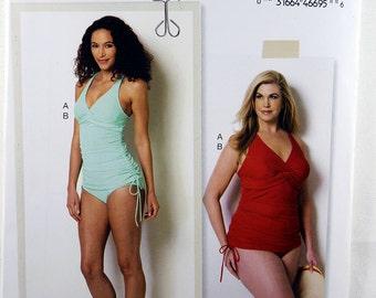 Butterick BP290, Women's Swimsuit Sewing Pattern, Sewing Pattern, Lisette Pattern, Plus Size Swimsuit Pattern, Sizes: 18W - 24W, Uncut