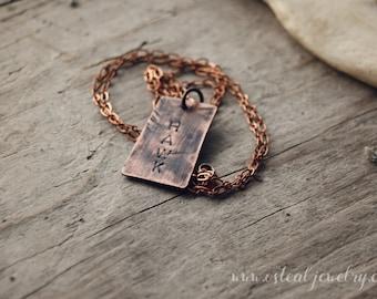 Hawk - wildlife necklace, 30 inch chain