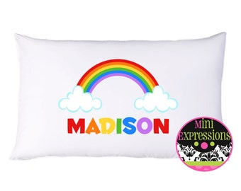 Rainbow Pillowcase Personalized Just For You