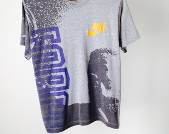 vintage NIKE 90s swoosh Michael Jordan Embroidered HOOPS nba basketball football t shirt