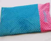 Create your own Personalized Minky Pillowcase - Turquoise and Pink