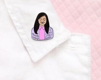 Mindy Kaling lapel pin