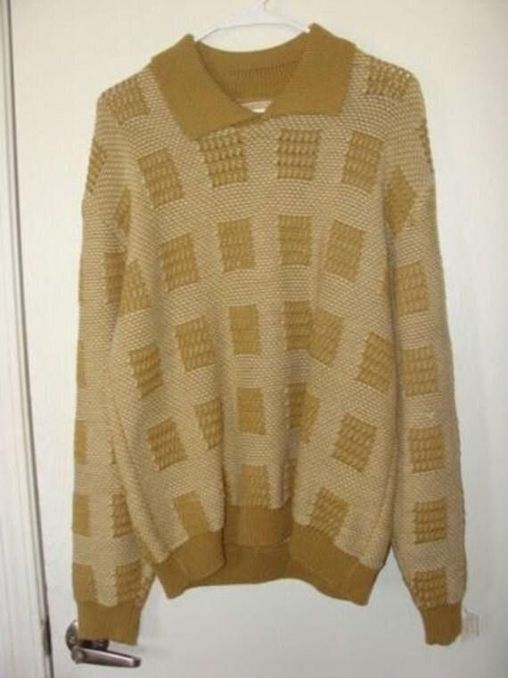 B&B Larry's by Lord Jeff 100% Italian Wool Knit Sweater Shirt 8yyV7ZYf