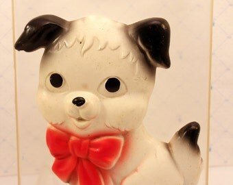 Chalkware Puppy Dog Wall Hanging Miller Studio 5 inches 1975