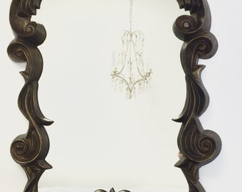 """VINTAGE MIRRORS For Sale 33""""x20"""" Ornate French Country Antique Vintage Decorative Wall Mirror Modern Home Black Framed Mirror"""
