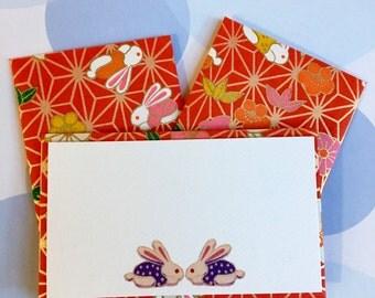 Mini Cards and Envelopes - Gift Enclosure - Gift Card Holder - Set of 10