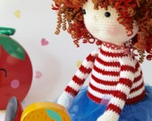 Ruby the redhead Crochet Amigurumi Girl Doll