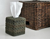 Army Green Tissue Cover Bathroom Decoration  Neutral Home Decor Olive Green