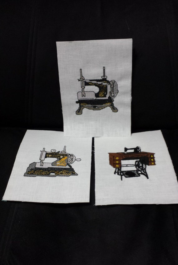 embroidered sewing machine