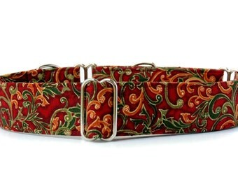 Fall Martingale Dog Collar,,, Autumn Beauty,, Martingale Dog Collar in 1.5 inch or 2 inch width