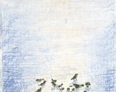 Birds in Snow, Prints of Pastel