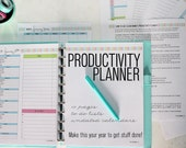 ORGANIZE - Clean Mama's PRODUCTIVITY PLANNER - 10 pages - Instant Download