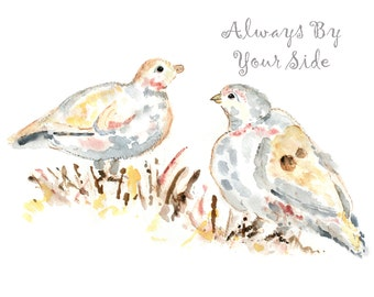 Dove Print, Custom valentines gift, custom print, Wedding Gift, Dove Painting, Gift for Girlfriend, Gift for Wife, Anniversary Gift
