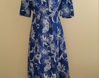 1970s to 1980s Hawaiian Dress with matching Skirt, Cotton, XXL, #59392