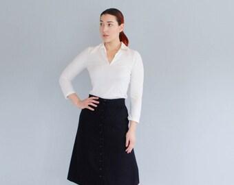 1970s Wool Skirt - Vintage 70s A-Line Skirt - Ann Taylor Skirt