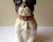 Porcelain French Bulldog Container/ Made in Japan/ Beautiful Piece!