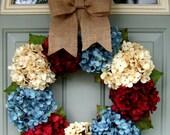 Summer Wreath - Fourth of July Wreath - Americana Wreath