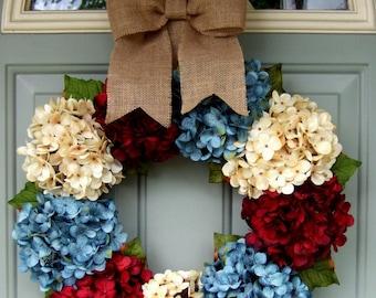 July 4th wreath - Wreath for July 4 - Americana Wreath - Patriotic Wreath