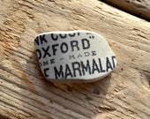 OXFORD MARMALADE Sea Pottery Shard - Scottish Sea Pottery Supplies - (4069)