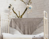 Knit Baby blanket Baby shower gift Baby Lace blanket Baptism accessory Gift for New Baby