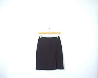 Vintage 90's black skirt, black pencil skirt, 90s skirt, size 3 / 2 small / xs