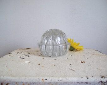 Cambridge Glass large glass domed flower frog