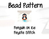 Penguin Pattern, Peyote or Brick Stitch Seed Beads, DIY Pendant/Charms | DIGITAL DOWNLOAD