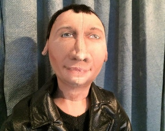 OOAK Dr Who Doll #9 Christopher Eccleston Handmade 9th Doctor Who Cloth Doll