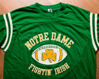 Notre Dame T-shirt, Fighting Irish Football, University, Vintage 80s