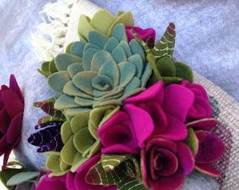 Faux succulent plant arrangement