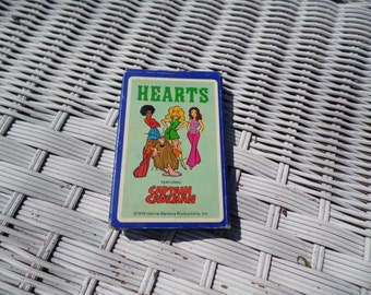 Hearts card game featuring Captain Caveman vintage 1979 Hanna Barbera Productions  Hoyle Stancraft Products complete game with instructions