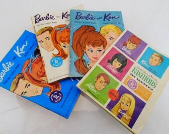 Barbie Booklet Pamphlet Catalog Clothing Insert Ken Midge Allen Skipper Vintage Mod Doll Mattel Accessories