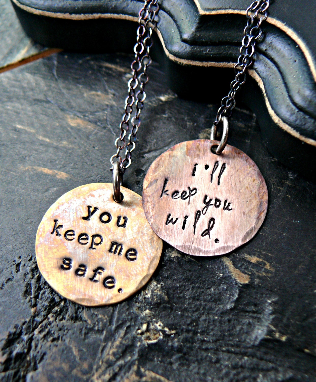 Hand Stamped Matching Sister Necklaces Soul Sister Soul